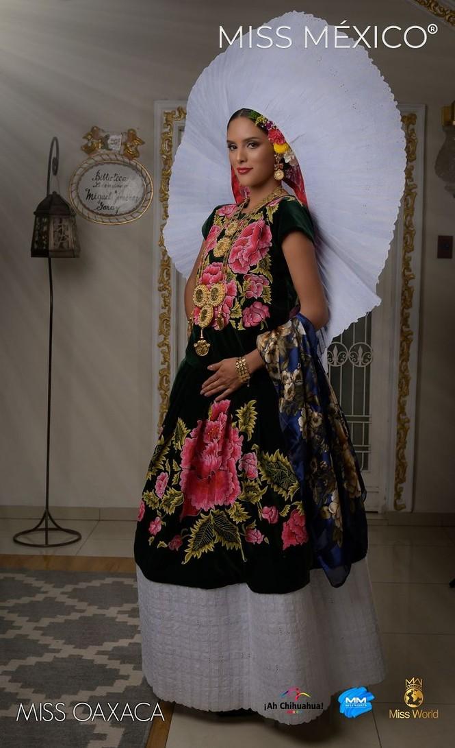 Choáng ngợp trước trang phục truyền thống lộng lẫy của các thí sinh Hoa hậu Mexico 2020 - ảnh 12
