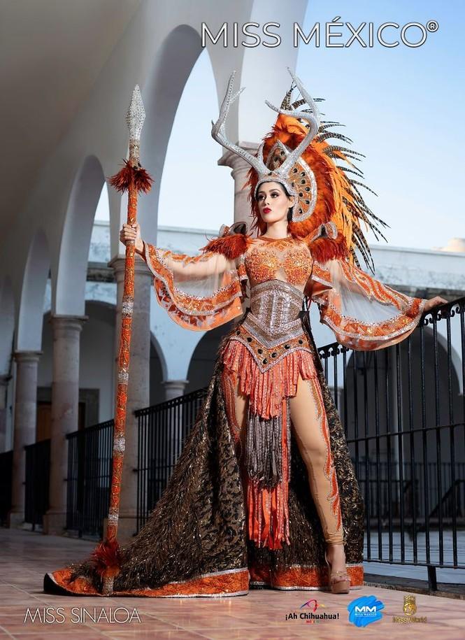 Choáng ngợp trước trang phục truyền thống lộng lẫy của các thí sinh Hoa hậu Mexico 2020 - ảnh 8