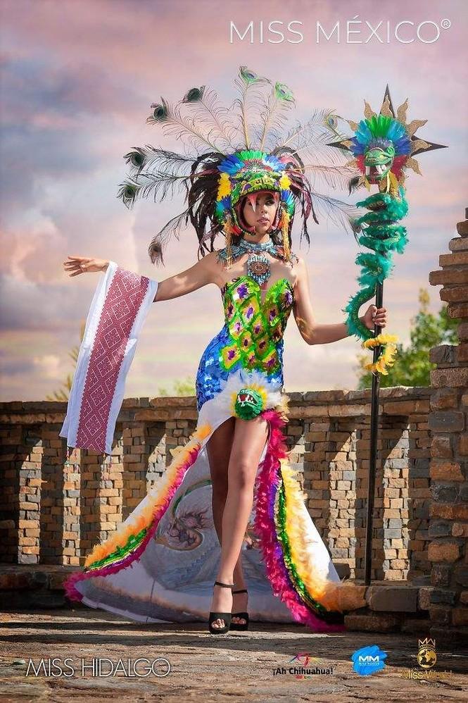 Choáng ngợp trước trang phục truyền thống lộng lẫy của các thí sinh Hoa hậu Mexico 2020 - ảnh 14