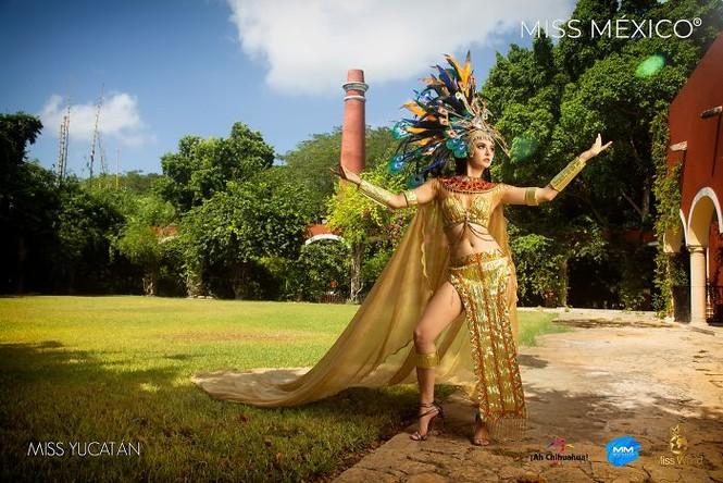 Choáng ngợp trước trang phục truyền thống lộng lẫy của các thí sinh Hoa hậu Mexico 2020 - ảnh 15