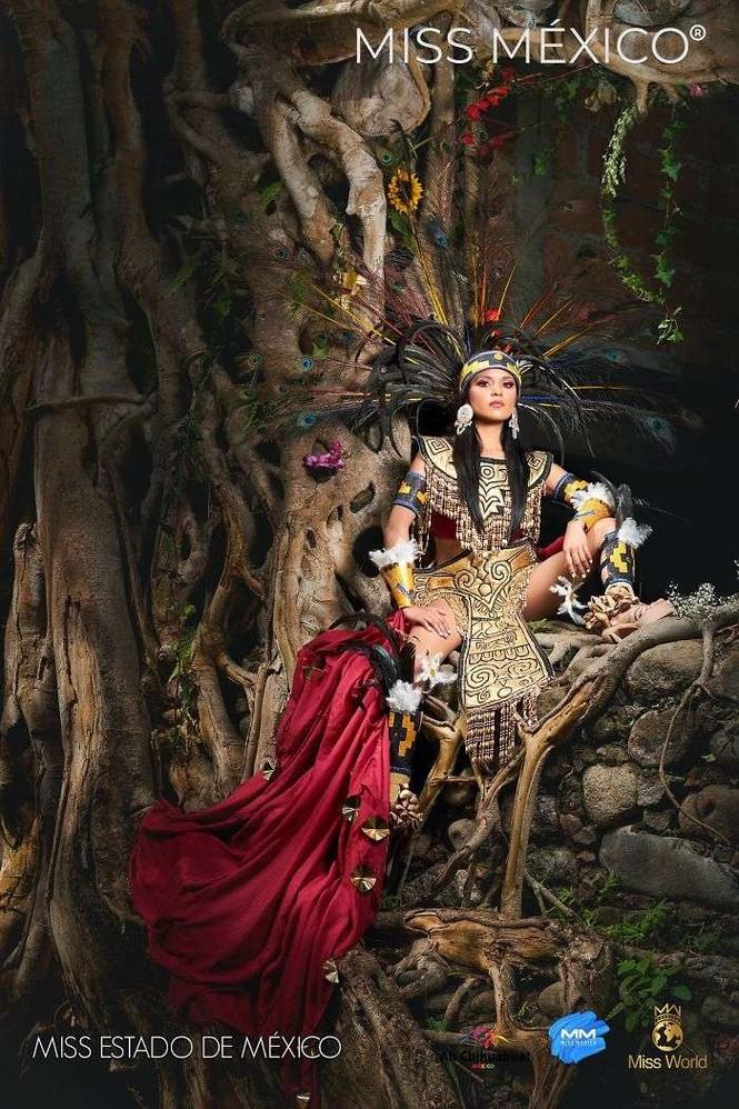 Choáng ngợp trước trang phục truyền thống lộng lẫy của các thí sinh Hoa hậu Mexico 2020 - ảnh 4