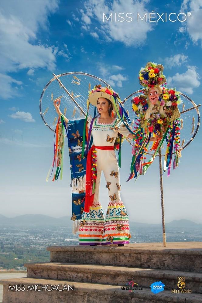Choáng ngợp trước trang phục truyền thống lộng lẫy của các thí sinh Hoa hậu Mexico 2020 - ảnh 2