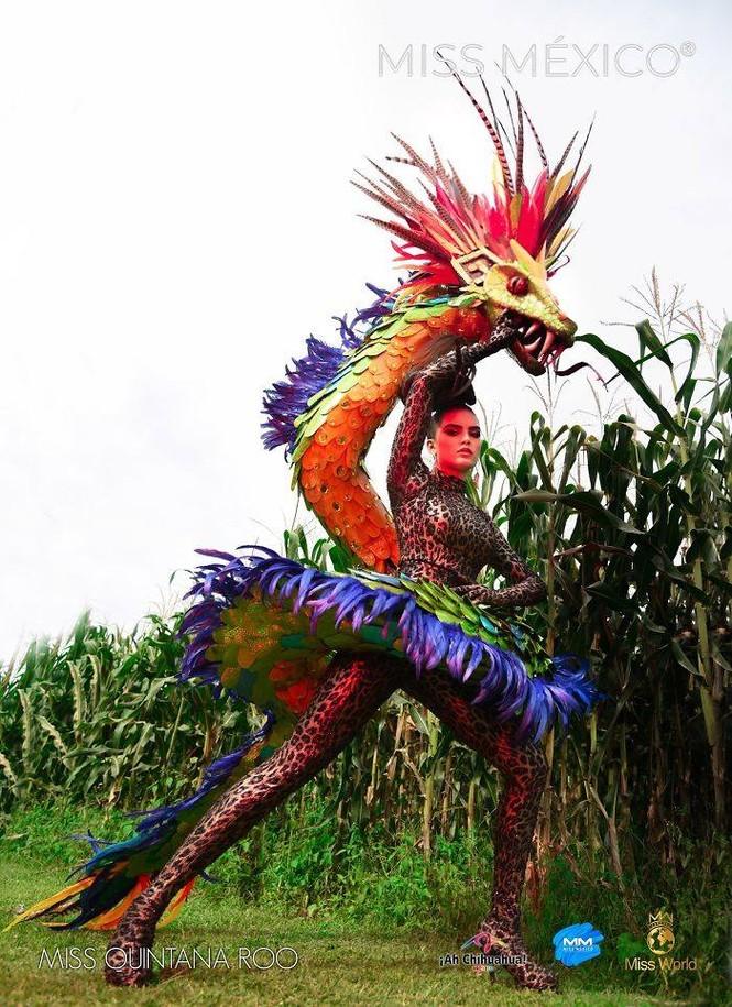 Choáng ngợp trước trang phục truyền thống lộng lẫy của các thí sinh Hoa hậu Mexico 2020 - ảnh 5