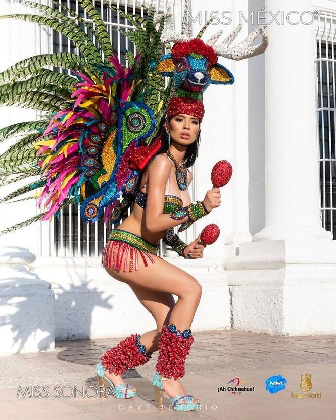 Choáng ngợp trước trang phục truyền thống lộng lẫy của các thí sinh Hoa hậu Mexico 2020 - ảnh 1