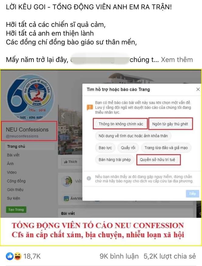 Fanpage hàng triệu người theo dõi NEU Confessions