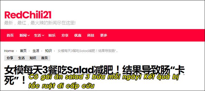 Cô gái phải nhập viện cấp cứu vì chỉ ăn salad liên tục trong nhiều ngày liền - ảnh 1