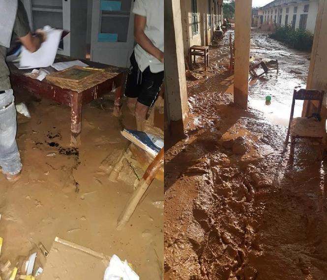 Trường học ở Quảng Trị ngập trong bùn đất dày 1m, học sinh không thể đến trường gần 3 tuần - ảnh 2