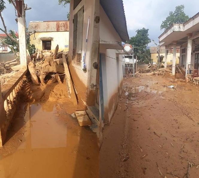 Trường học ở Quảng Trị ngập trong bùn đất dày 1m, học sinh không thể đến trường gần 3 tuần - ảnh 4