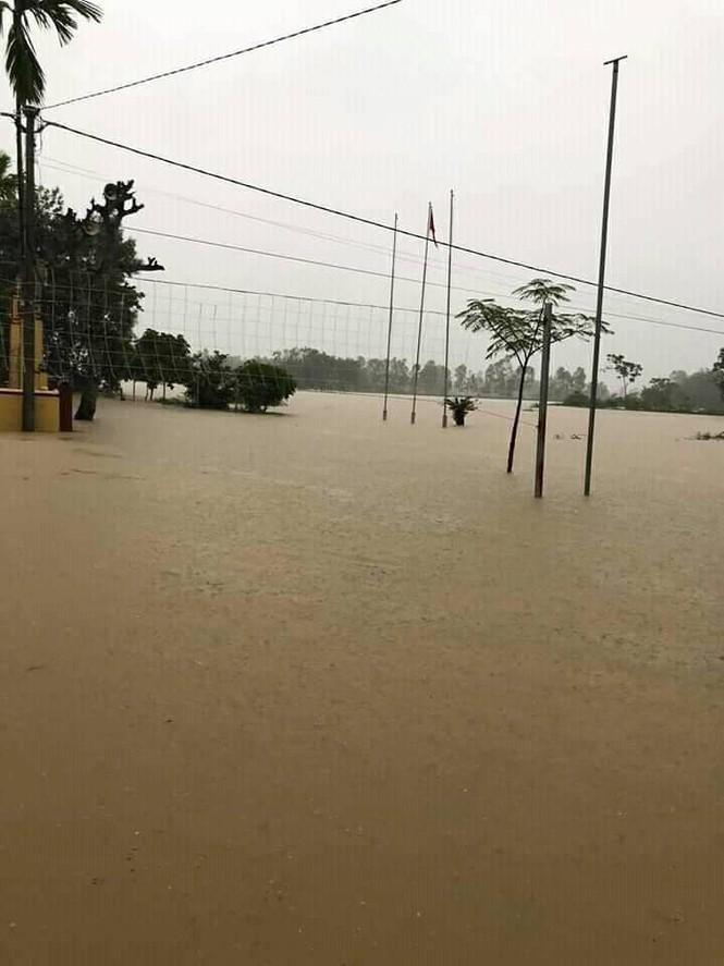 Cảnh tượng xót xa: Nhiều nơi tại Nghệ An ngập sâu trong nước lũ, khu vực biển bị sập bờ kè - ảnh 3