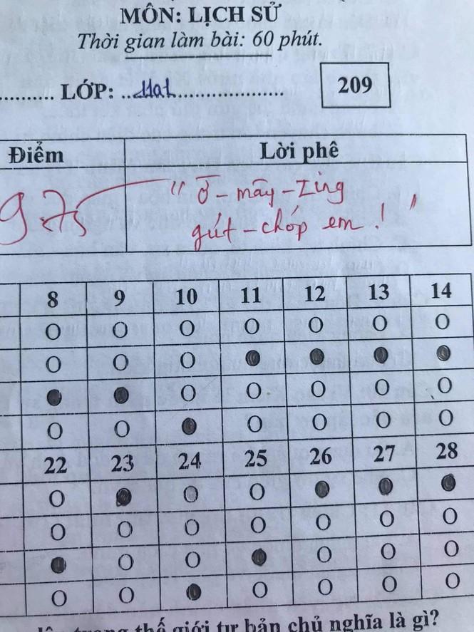 Khi giáo viên dạy Sử là