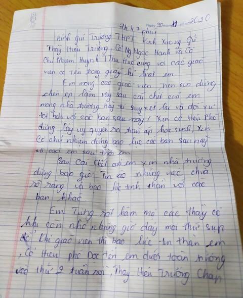 An Giang: Nữ sinh lớp 10 để lại