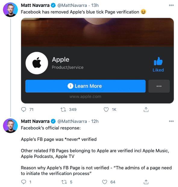"""Chuyện Facebook gỡ """"tick xanh"""" fanpage của Apple: Thực chất Apple chưa từng có tick xanh! - ảnh 3"""
