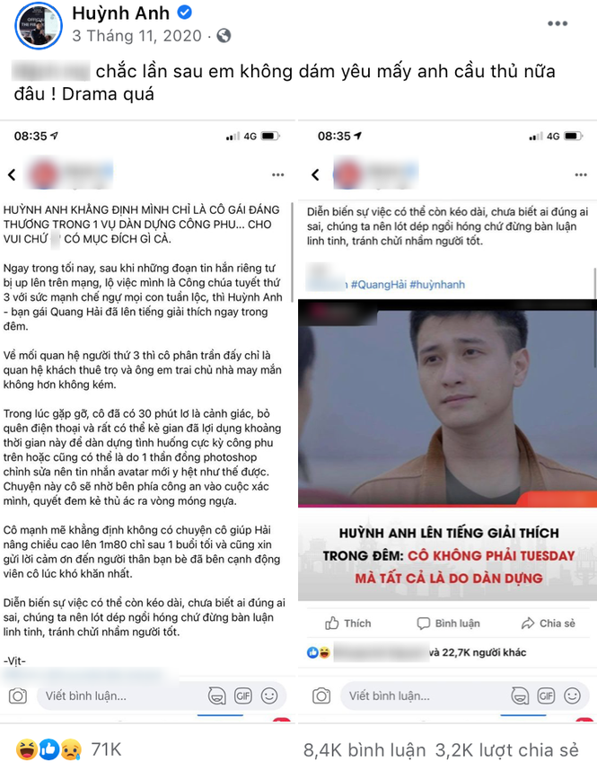 Huỳnh Anh đáp trả thế nào khi nam diễn viên Huỳnh Anh gọi Quang Hải là người yêu cũ? - ảnh 2