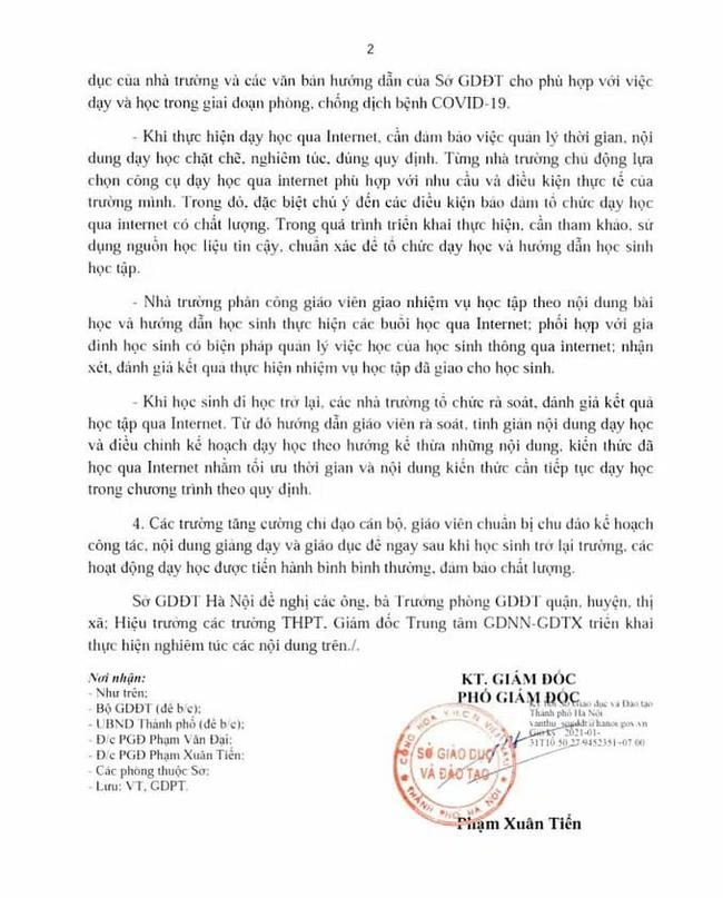 Học sinh Hà Nội bắt đầu học trực tuyến từ ngày mai 1/2 theo thời khoá biểu chung của trường - ảnh 2