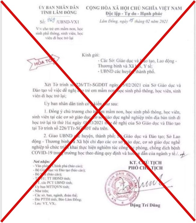 Nam sinh lớp 10 ở Lâm Đồng làm giả văn bản nghỉ học sẽ chịu hình thức xử lý như thế nào? - ảnh 1