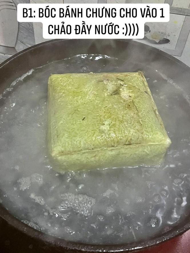 Cô gái làm món bánh chưng chiên nước lọc giống trên mạng, nhìn thành quả ai cũng bàng hoàng - ảnh 1