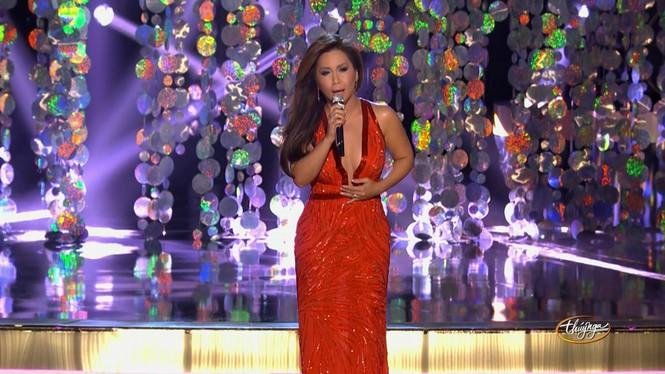 """Đụng hàng đầm khoe ngực, Minh Tuyết """"chặt đẹp"""" Mariah Carey - ảnh 4"""