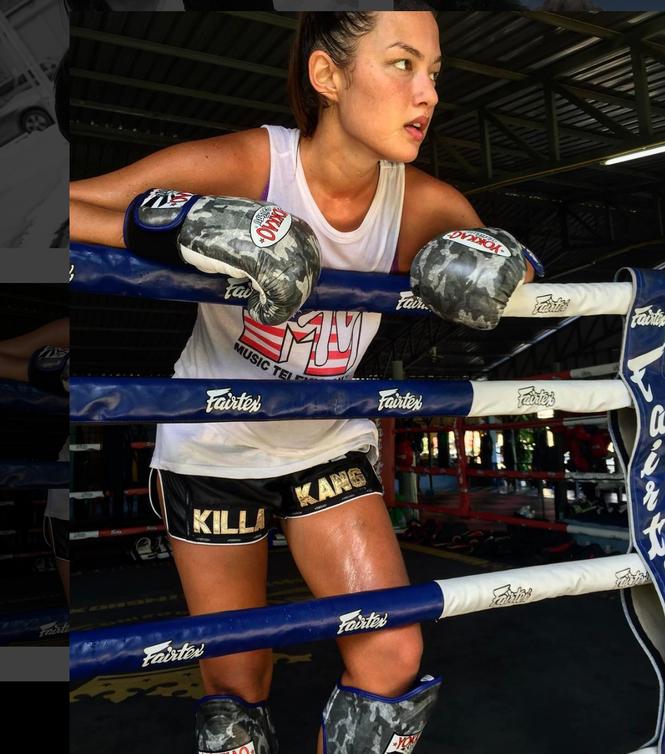 Người mẫu nóng bỏng bước lên sàn đấu Muay Thái - ảnh 8