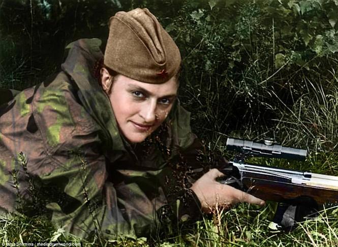 Chân dung nữ xạ thủ Nga được mệnh danh 'Quý bà chết chóc' - ảnh 2
