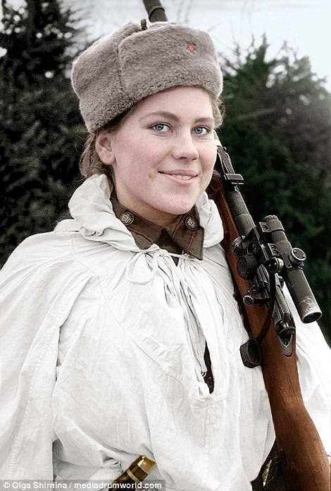 Chân dung nữ xạ thủ Nga được mệnh danh 'Quý bà chết chóc' - ảnh 6