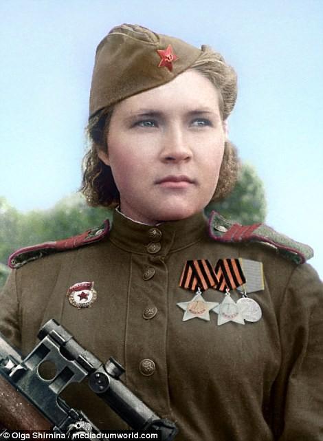 Chân dung nữ xạ thủ Nga được mệnh danh 'Quý bà chết chóc' - ảnh 13