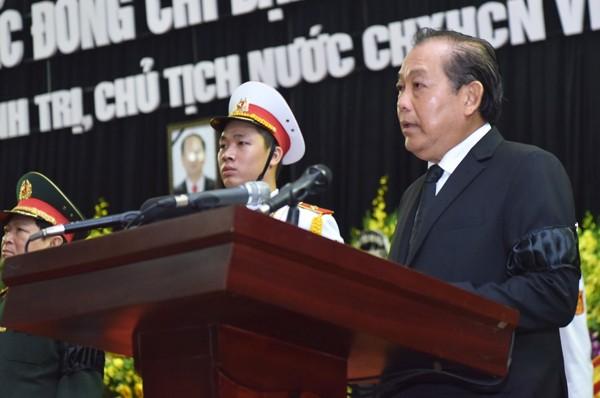 Hình ảnh xúc động tại lễ truy điệu Chủ tịch nước Trần Đại Quang - ảnh 2