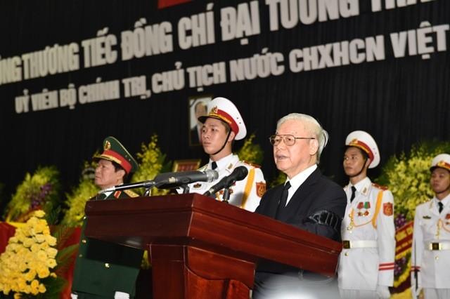 Hình ảnh xúc động tại lễ truy điệu Chủ tịch nước Trần Đại Quang - ảnh 5
