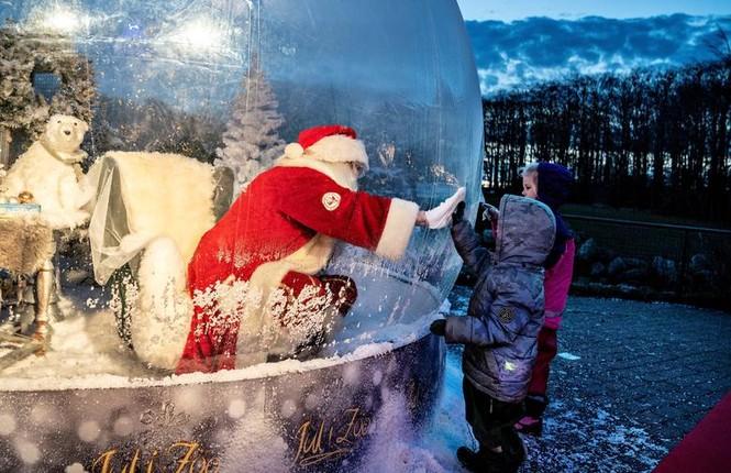 Giáng sinh thời COVID-19: Ông già Noel trong bong bóng, đồ trang trí cũng đeo khẩu trang - ảnh 6