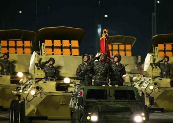 Triều Tiên duyệt binh hậu đại hội đảng, ra mắt tên lửa tàu ngầm mới - ảnh 17