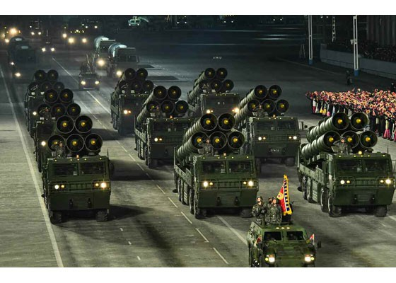 Triều Tiên duyệt binh hậu đại hội đảng, ra mắt tên lửa tàu ngầm mới - ảnh 15