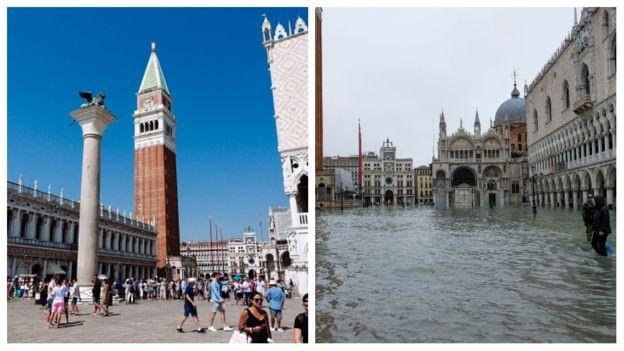 Venice ngập trong nước triều cường lịch sử - ảnh 1