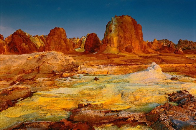 Dallol núi lửa ao mặn axit suối nước nóng không có vi sinh vật Ethiopia - ảnh 11