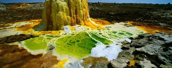 Dallol núi lửa ao mặn axit suối nước nóng không có vi sinh vật Ethiopia - ảnh 12