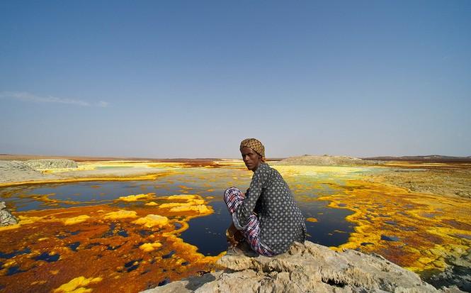 Dallol núi lửa ao mặn axit suối nước nóng không có vi sinh vật Ethiopia - ảnh 15