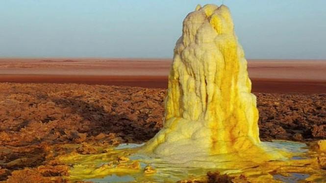 Dallol núi lửa ao mặn axit suối nước nóng không có vi sinh vật Ethiopia - ảnh 19