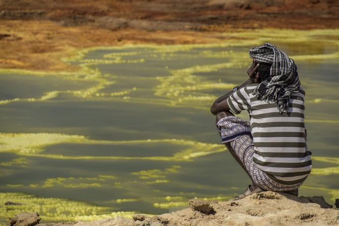 Dallol núi lửa ao mặn axit suối nước nóng không có vi sinh vật Ethiopia - ảnh 23
