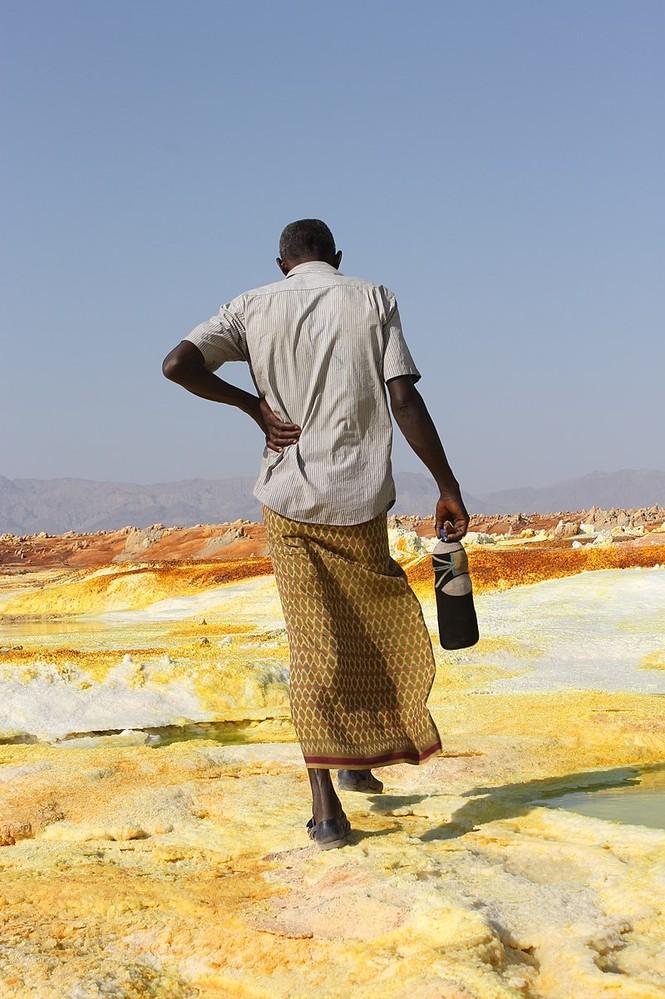Dallol núi lửa ao mặn axit suối nước nóng không có vi sinh vật Ethiopia - ảnh 3