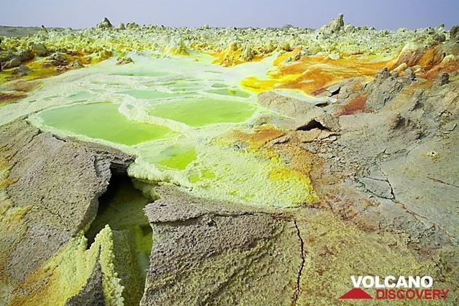 Dallol núi lửa ao mặn axit suối nước nóng không có vi sinh vật Ethiopia - ảnh 5