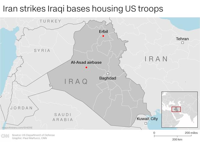 Iran không kích căn cứ quân sự Mỹ ở Iraq giá dầu thô tăng eo biển Hormuz - ảnh 1