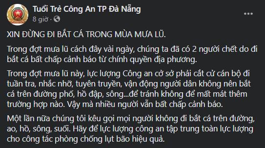 Đà Nẵng: Mưa như trút nước, đường phố thành sông, người dân vô tư bắt cá giữa đường - ảnh 5