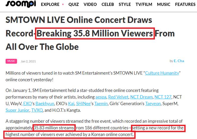 SM vượt mặt BTS, lập kỷ lục concert online có nhiều người xem nhất Hàn Quốc? - ảnh 2