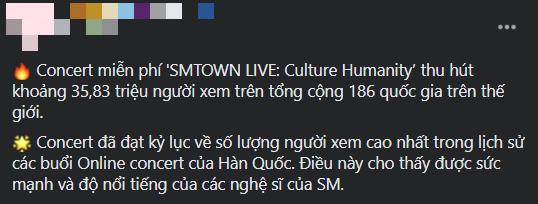 SM vượt mặt BTS, lập kỷ lục concert online có nhiều người xem nhất Hàn Quốc? - ảnh 5