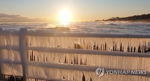 """Hàn Quốc lạnh đến mức sông Hàn hóa """"sân băng"""" khổng lồ, đến biển cũng đóng băng - ảnh 6"""