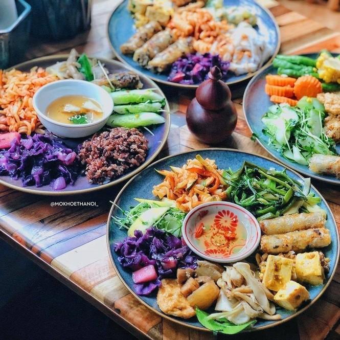 """Hà Nội phố: """"Đổi gió"""" với buffet chay healthy giá cực mềm, địa điểm lại xinh  - ảnh 4"""