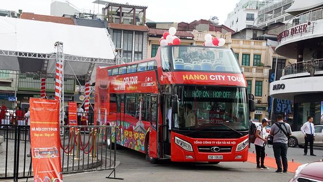 Hà Nội khai trương xe buýt 2 tầng phục vụ khách du lịch - ảnh 2