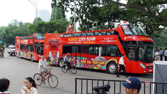 Hà Nội khai trương xe buýt 2 tầng phục vụ khách du lịch - ảnh 6