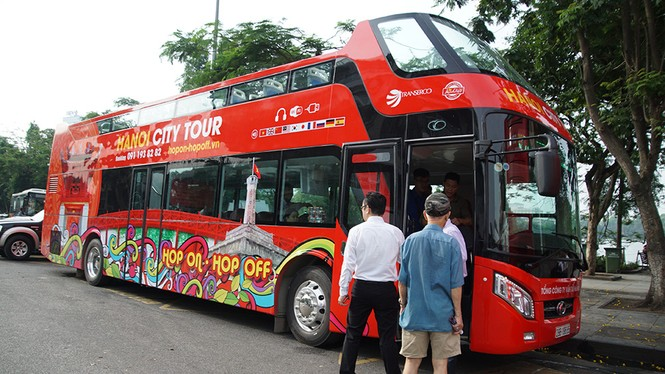 Hà Nội khai trương xe buýt 2 tầng phục vụ khách du lịch - ảnh 7