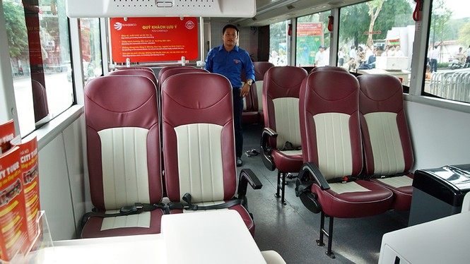 Hà Nội khai trương xe buýt 2 tầng phục vụ khách du lịch - ảnh 12