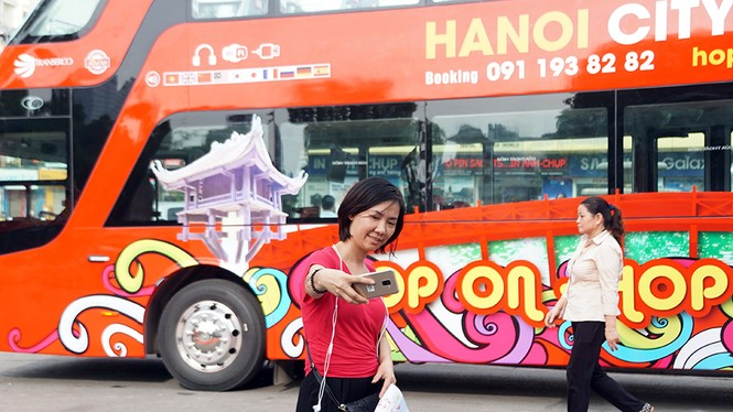 Hà Nội khai trương xe buýt 2 tầng phục vụ khách du lịch - ảnh 14