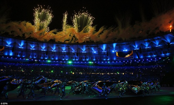Khai mạc Olympic 2016: Rực rỡ pháo hoa, rộn ràng hát ca - ảnh 8